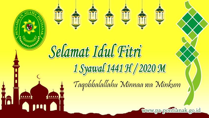 Selamat Idul Fitri 1441 H / 2020 M